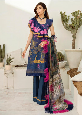Azalea Embroidered Lawn Unstitched 3 Piece Suit AZA20L D 10 - Spring / Summer Collection