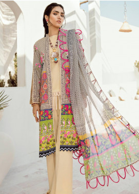 Azalea Embroidered Lawn Unstitched 3 Piece Suit AZA20L D 11 - Spring / Summer Collection