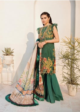 Azalea Embroidered Lawn Unstitched 3 Piece Suit AZA20L D 12 - Spring / Summer Collection