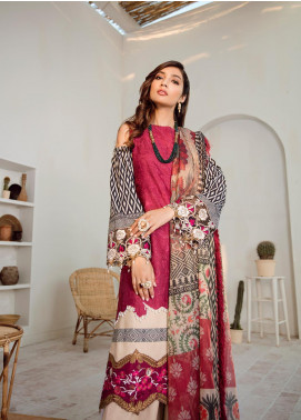 Azalea Embroidered Lawn Unstitched 3 Piece Suit AZA20L D 13 - Spring / Summer Collection