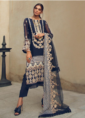 Azalea Embroidered Chiffon Unstitched 3 Piece Suit AZA19F 1 - Luxury Collection