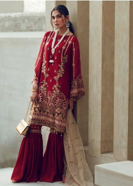 Azalea Embroidered Chiffon Unstitched 3 Piece Suit AZA19F 2 - Luxury Collection