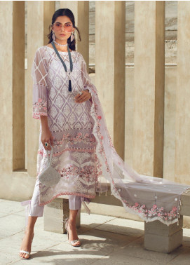 Azalea Embroidered Organza Unstitched 3 Piece Suit AZA19F 4 - Luxury Collection
