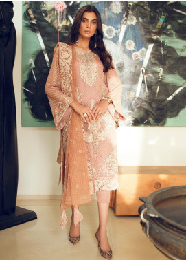 Azalea Embroidered Chiffon Unstitched 3 Piece Suit AZA19F 6 - Luxury Collection