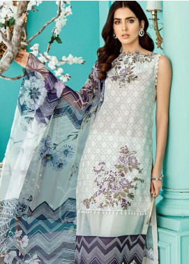 Azalea Embroidered Lawn Unstitched 3 Piece Suit AZA19EL 10 - Spring / Summer Collection