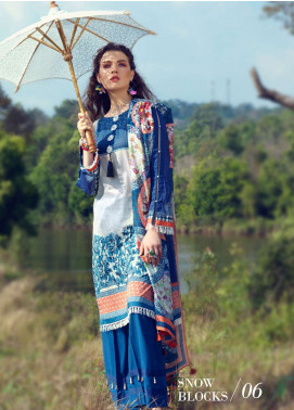 Azalea Printed Lawn Unstitched 3 Piece Suit AZA19L 06 SNOW BLOCKS - Spring / Summer Collection