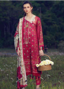 Azalea Printed Lawn Unstitched 3 Piece Suit AZA19L 20 RED BUD - Spring / Summer Collection