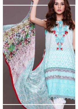 Al Zohaib Embroidered Lawn Unstitched 3 Piece Suit AZE17L 2A