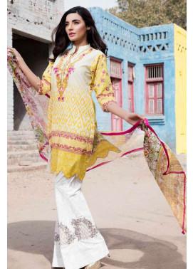 Al Zohaib Embroidered Lawn Unstitched 3 Piece Suit AZE17L 2B