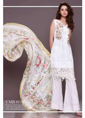 Al Zohaib Embroidered Lawn Unstitched 3 Piece Suit AZE17L 3A