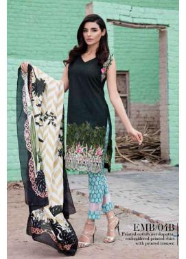 Al Zohaib Embroidered Lawn Unstitched 3 Piece Suit AZE17L 4B