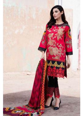 Al Zohaib Embroidered Lawn Unstitched 3 Piece Suit AZE17L 5B