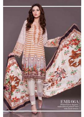 Al Zohaib Embroidered Lawn Unstitched 3 Piece Suit AZE17L 6A