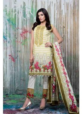 Al Zohaib Embroidered Lawn Unstitched 3 Piece Suit AZE17L 6B