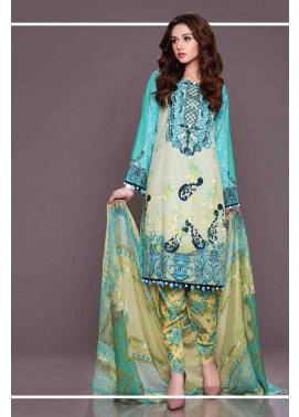 Al Zohaib Embroidered Lawn Unstitched 3 Piece Suit AZE17L 7A