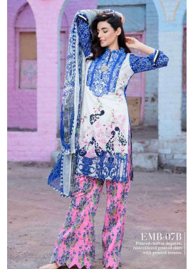 Al Zohaib Embroidered Lawn Unstitched 3 Piece Suit AZE17L 7B