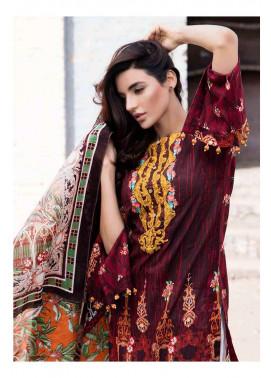 Al Zohaib Embroidered Lawn Unstitched 3 Piece Suit AZE17L 8B