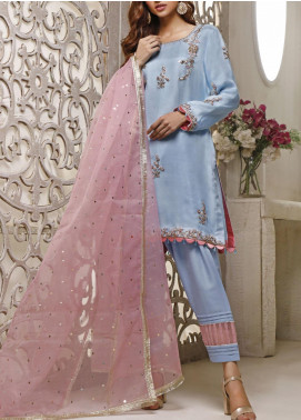 Fayon Embroidered Tissue Stitched 3 Piece Suit FN-A138 Patel Deslight