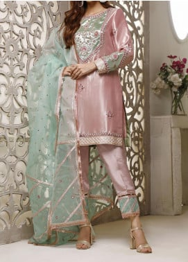 Fayon Embroidered Organza Stitched 3 Piece Suit FN-A140 Synthia