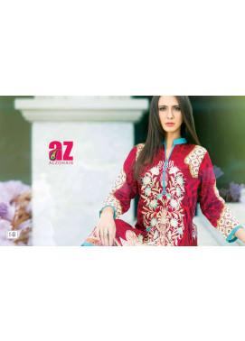 Zaneesha By Al Zohaib Embroidered Lawn Unstitched Kurtis AZN16S 1B