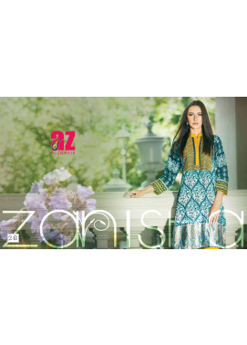 Zaneesha By Al Zohaib Embroidered Lawn Unstitched Kurtis AZN16S 2B
