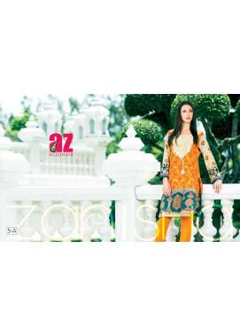Zaneesha By Al Zohaib Embroidered Lawn Unstitched Kurtis AZN16S 5A