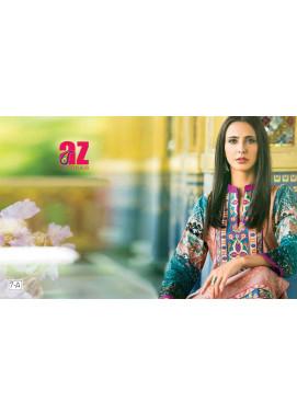 Zaneesha By Al Zohaib Embroidered Lawn Unstitched Kurtis AZN16S 7A