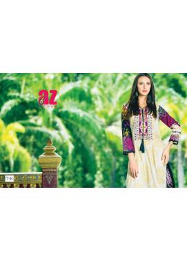Zaneesha By Al Zohaib Embroidered Lawn Unstitched Kurtis AZN16S 7B