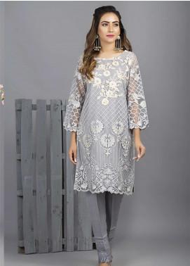 Azure Embroidered Cotton Net Stitched 2 Piece Suit AZU18C 02