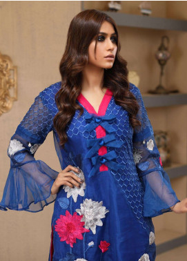 Azure Embroidered Organza Unstitched Kurties AZU18F 04 - Formal Collection