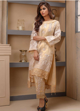 Azure Embroidered Missouri Unstitched Kurties AZU18F 08 - Formal Collection