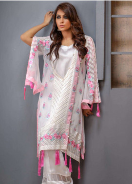 Azure Embroidered Chiffon Unstitched Kurties AZU18F 12 - Formal Collection