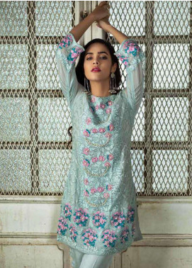 Azure Embroidered  Stitched 2 Piece Suit AZU18-C2 SHIMMERING BUD A