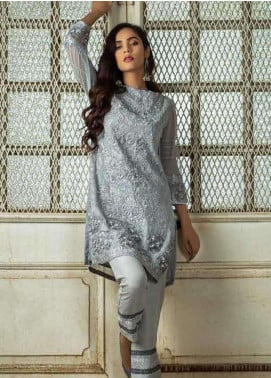 Azure Embroidered  Stitched 2 Piece Suit AZU18-C2 SHIMMERING BUD B