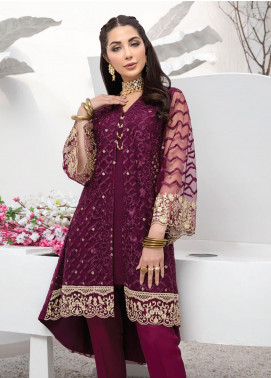 Azure Embroidered Net Unstitched Kurties AZU20F Berrylicious 01 - Formal Luxury Collection