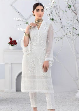 Azure Embroidered Chiffon Unstitched Kurties AZU20F Crystal Haze 02 - Formal Luxury Collection
