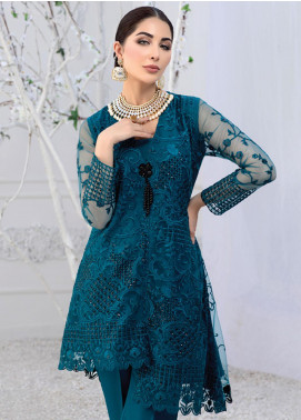 Azure Embroidered Net Unstitched Kurties AZU20F Glitzy Glam 03 - Formal Luxury Collection