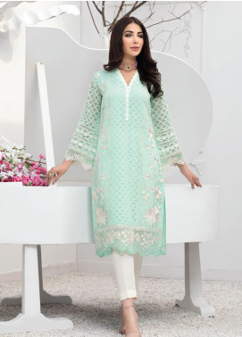 Azure Embroidered Organza Unstitched Kurties AZU20F Hazy Blooms 04 - Formal Luxury Collection