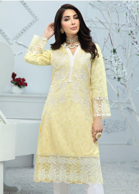 Azure Embroidered Cotton Net Unstitched Kurties AZU20F Morning Bud 09 - Formal Luxury Collection