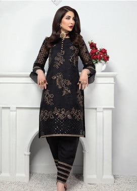 Azure Embroidered Organza Unstitched Kurties AZU20F Moroccon Night 10 - Formal Luxury Collection