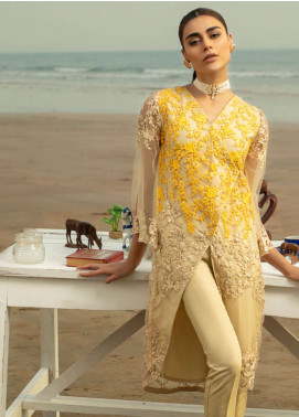 Azure Embroidered Zari Net Unstitched Kurties AZU19-K2 11 VIVID ESSENCE - Luxury Collection