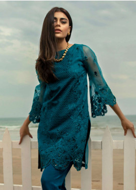 Azure Embroidered Organza Unstitched Kurties AZU19-K2 4 ALLURING BREEZE - Luxury Collection