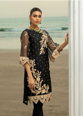 Azure Embroidered Organza Unstitched Kurties AZU19-K2 7 SHIMMERING ROSE - Luxury Collection