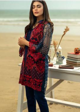 Azure Embroidered Zari Net Unstitched Kurties AZU19-K2 9 METALLIC MYSTRY - Luxury Collection