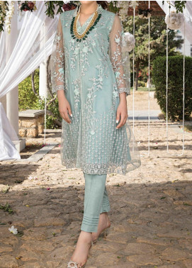 Azure Embroidered Net Unstitched Kurties AZU20-LF3 02 Fiona - Luxury Formal Collection
