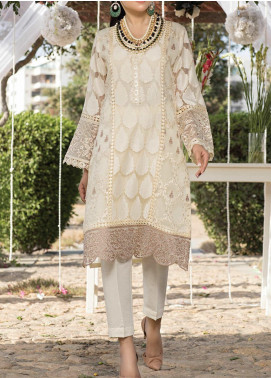 Azure Embroidered Organza Unstitched Kurties AZU20-LF3 03 Fairytale - Luxury Formal Collection