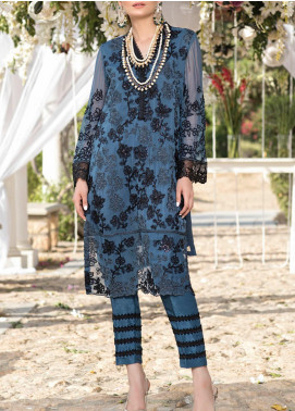 Azure Embroidered Chiffon Unstitched Kurties AZU20-LF3 06 Vogue - Luxury Formal Collection