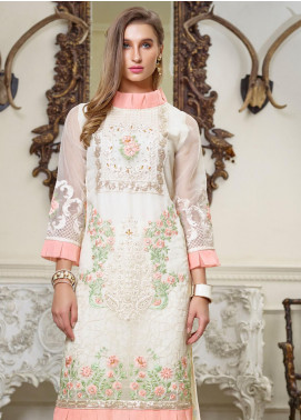 Azure Embroidered Organza Unstitched Kurties AZU19F 06 SHEER GRACE - Festive Collection