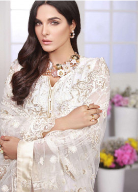 Azure Embroidered Chiffon Unstitched 3 Piece Suit AZE18C 03 - Luxury Collection