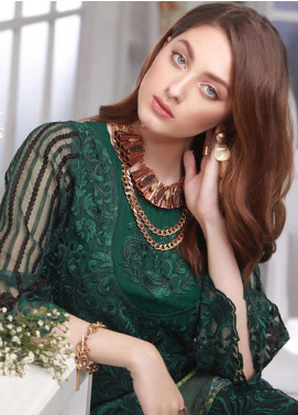 Azure Embroidered Chiffon Unstitched 3 Piece Suit AZE18C 07 - Luxury Collection